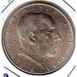 Austria; 1932 2 Shilling UNC Death of Ignaz Seipel.