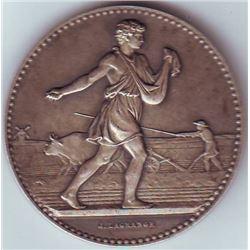 France: Agricultural Silver Medal Aube Region Circa 1910, J Lagrange in original case.