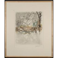 Ulf Onsberg Signed Ltd Ed Frmd Art Print-Snow Fence COA