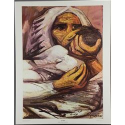 David Alfaro Siqueries Mexican Art Print El Beso