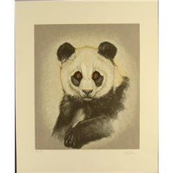 Marty Katon Signed Proof Art Print Panda Bear