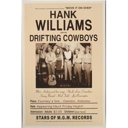 Hank Williams & His Drifting Cowboys 1947 Repro Poster