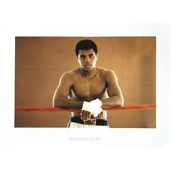 Young Muhammad Ali: Ropes Boxing Portrait Photo Print