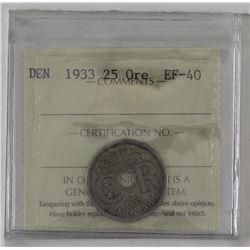 Denmark 1933 25 ore ICCS EF40