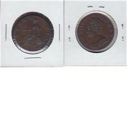 Great Britain 1753 Half Penny EF to AU