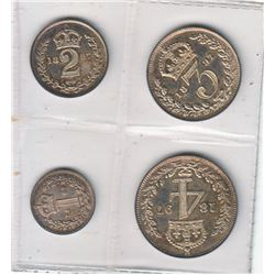 Great Britain 1897 Maundy Set Victoria 4-coin. Mint state