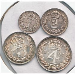 Great Britain 1904  Maundy Set Edward VII 4-coin. Mint state