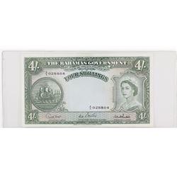 Bahamas (1953) 4 Shillings, Pick 13c #AS028804 EF+