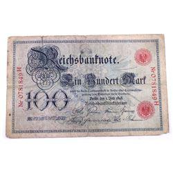 1898 Germany 100 Mark.  VG