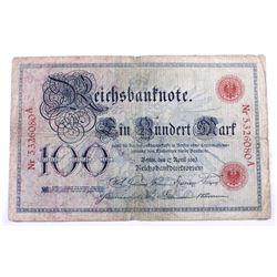 1903 Germany 100 Mark.  VG