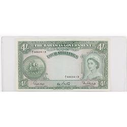 Bahamas (1953) 4 Shillings, #AI682413 VF to EF