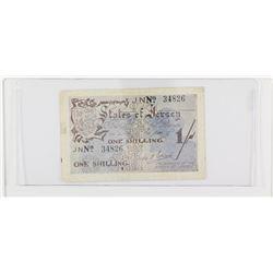 1942 Jersey 1 Shilling.  S/N: 34826, AU