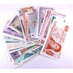Group lot of 73 different world banknotes from 73 different countries all in UNC condition.