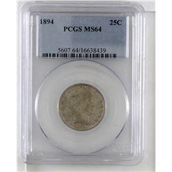 United States 1894 Quarter Dollar PCGS MS64