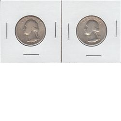 United States 25-cent 1932 D & S Mint Marks. (Key Date) Both coins are Good or better condition.  2