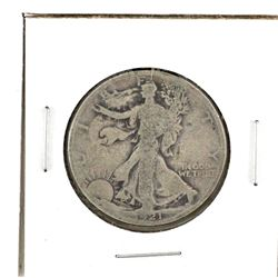 United States 1921 half dollar walking liberty (key Date) in Good condition.