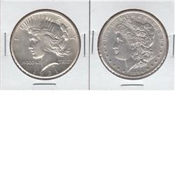 United States Silver $1 1894-O & 1921 Peace, both coins are semi key dates and are in Extra Fine Con