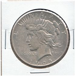 United States 1928 Peace Dollar; VF to EF