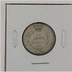 New Brunswick 1864 20-cent in VF-EF condition.