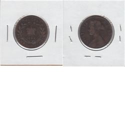 """Newfoundland 1-cent 1880 Oval """"0"""" in G-VG Condition. Rare variety ."""