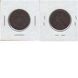 Newfoundland 1-cent 1888 in VF-EF condition. A deep chocolate brown coin with consistent fields.