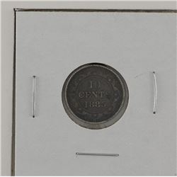 Newfoundland 10-cent 1885 in Fine condition.A nice deep grey coin.