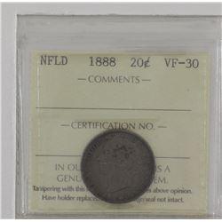Newfoundland 20-cent 1888 ICCS VF30