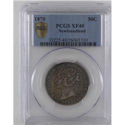 Newfoundland 50-cent 1870 PCGS XF40