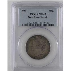 Newfoundland 50-cent 1894 PCGS EF45