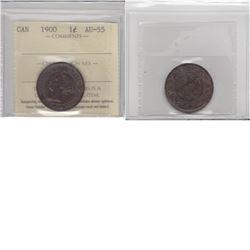 1-cent 1900 ICCS AU55