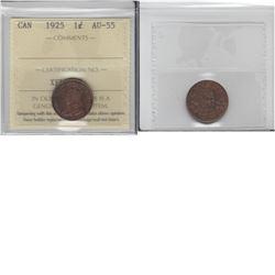 1-cent 1925 ICCS AU55