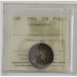 25-cent 1904 ICCS F15