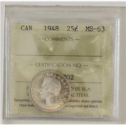 25-cent 1948  ICCS MS63