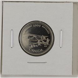 25-cent 1999 Mule November missing '25 cents' Proof-Like