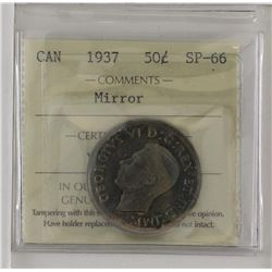 50-cent 1937 ICCS SP66 Mirror. Tied for the finest known.
