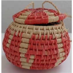 Small Mexican Lidded Basket