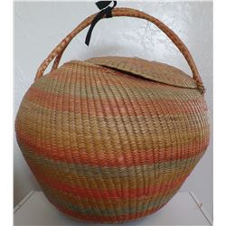 Large Mexican Lidded Basket