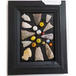 Texas Arrowheads Frame & Glass Beads