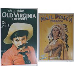 Two Tobacco Tin Posters
