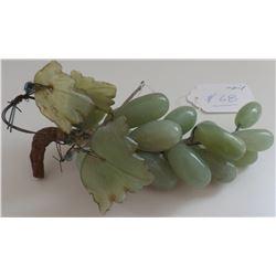 Chinese Jade Grape Cluster Carvings