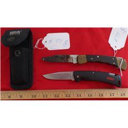 2 Folding Buck Knives