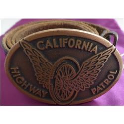 Old CHP Motorcycle Belt & Buckle