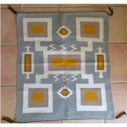 Authentic Storm Pattern Yellow Navajo Weaving