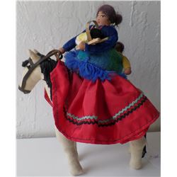 Authentic Navajo Doll on Horse