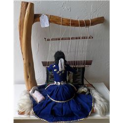Authentic Navajo Large Weaver Doll