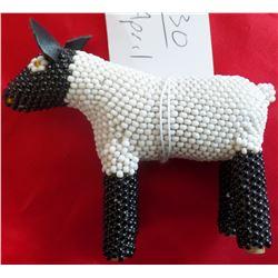 Southwest Beaded Sheep Effigy