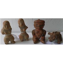 Group of 4 Small Pre-Columbian Figures