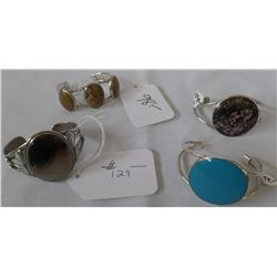 Lot of Four Sterling Silver Bracelets