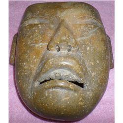 Authentic Teotihuacan Pre-Columbian Stone Mask w/COA