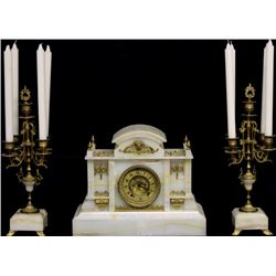 Antique 3 piece mantle clock set